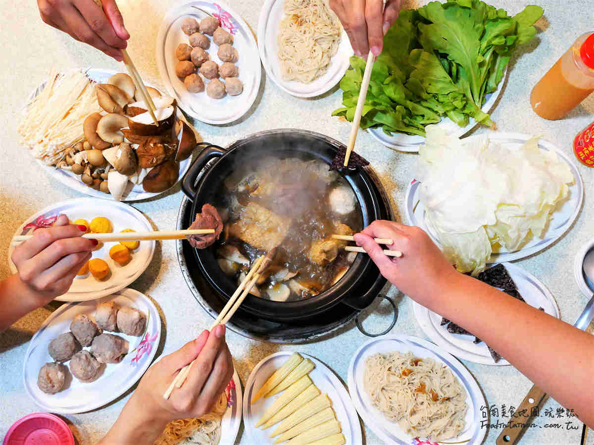 台南火鍋宵夜美食-皇茗薑母鴨台南北安店
