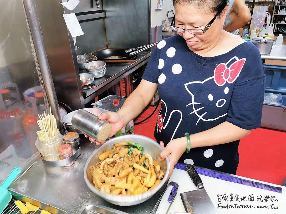 台南安南區推薦晚餐宵夜點心平價國民小吃-朋友鹹酥雞