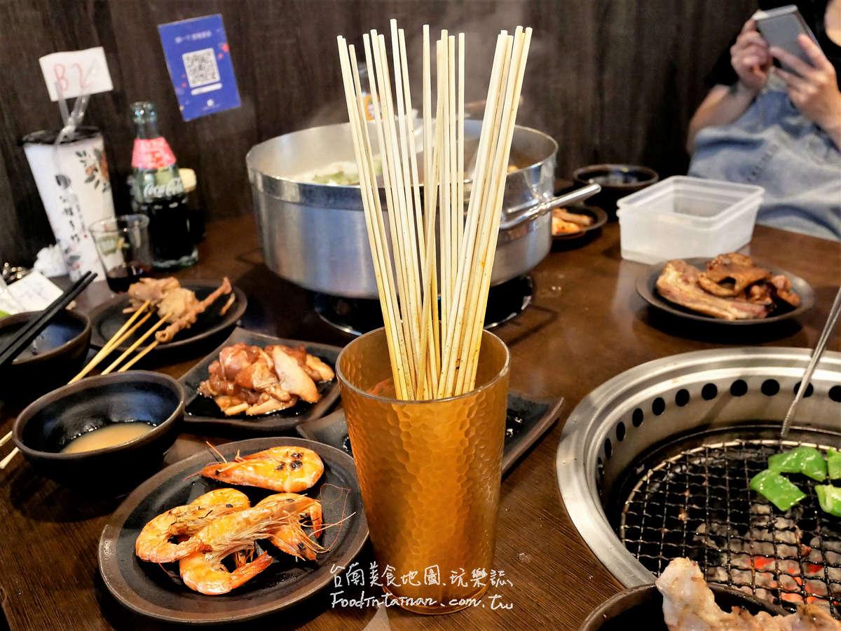 台南新營推薦火鍋烤肉燒烤串串燒麻辣燙一桌火烤三吃吃到飽-和樂屋