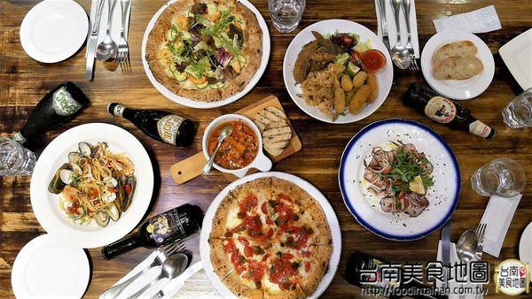 【台南市-東區美食】『亞米亞米窯烤餐酒館』只用海鹽與天然酵母最正統的義大利拿坡里PIZZA!外匯/聚餐好所在喔!每季變換新菜色啦!再來瓶義大利精釀啤酒~人生就是那麼美味๑♡∀♡๑